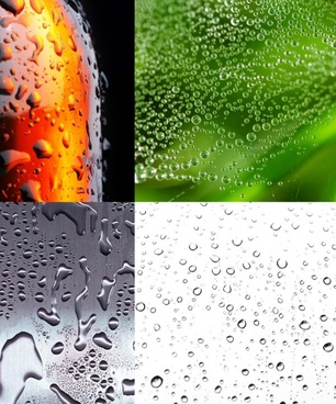4 beautiful drops of water highdefinition picture