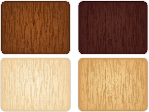 4 color wood grain background vector