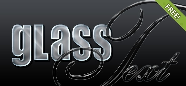 4 Free Glass Photoshop Styles