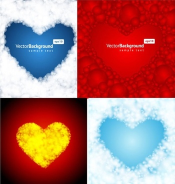 4 heartshaped vector