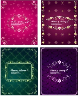 4 lovely lace pattern vector fashion