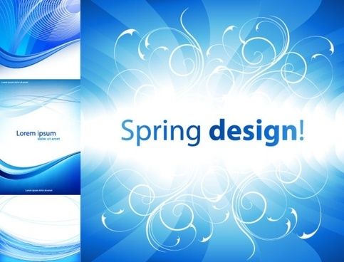 4 practical blue background vector