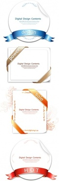 4 ribbon wrapped around the card vector