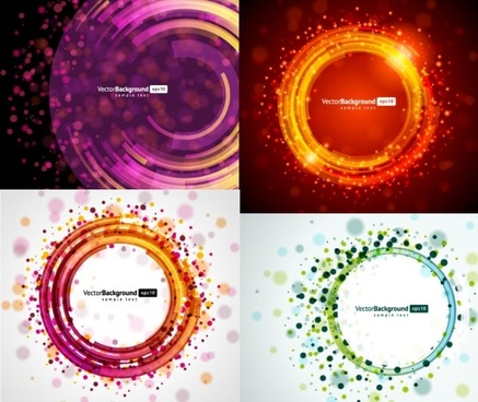 4 round light vector background