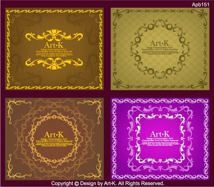4 simple vector of european lace