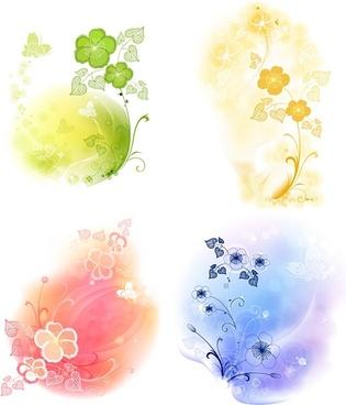 4 soft background pattern vector