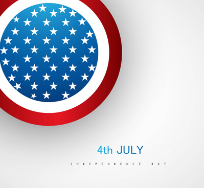 4th july american independence day circle vector
