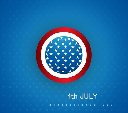 4th july american independence day circle vector design