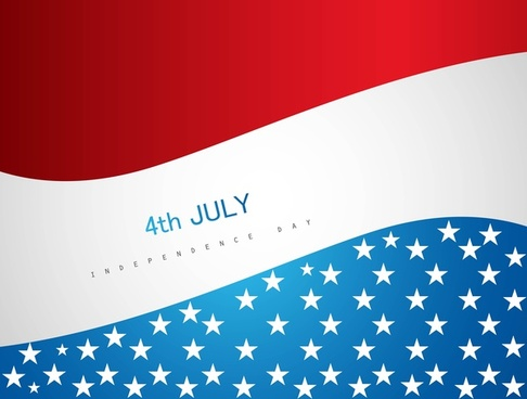 4th july american independence day vector background