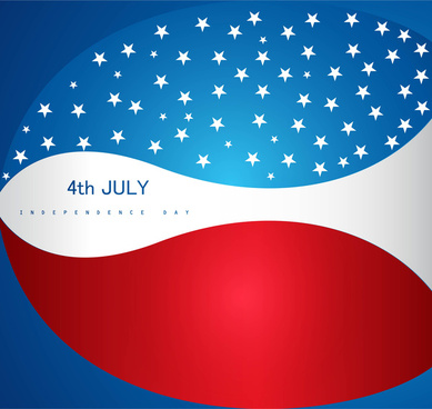 4th july american independence day vector shiny background