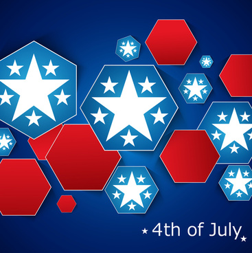 4th of july american independence day flag creative design