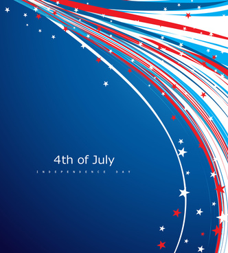 4th of july american independence day flag creative wire celebration wave design