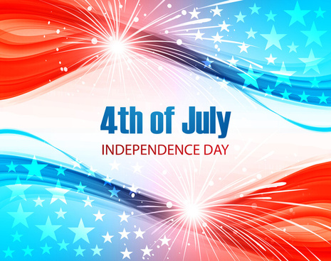 4th of july united states of america beautiful background vector
