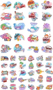 50 clip art cartoon character scenes