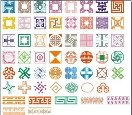 50 kinds of classical pattern vector