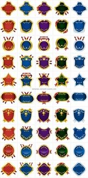 50 medal ribbon label tag vector