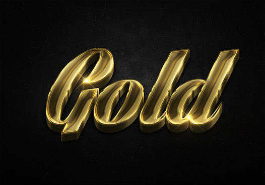 51 3d shiny gold text effects preview