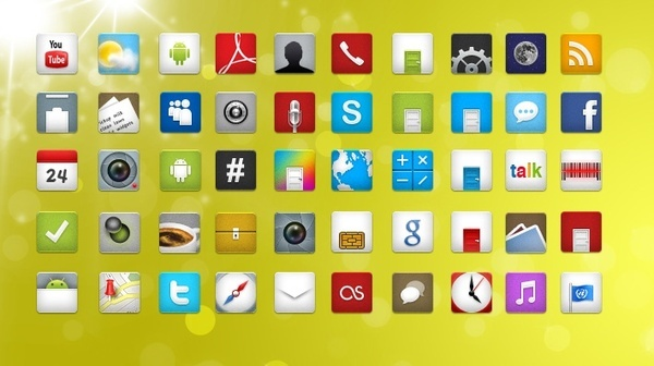 52 Android icons icons pack
