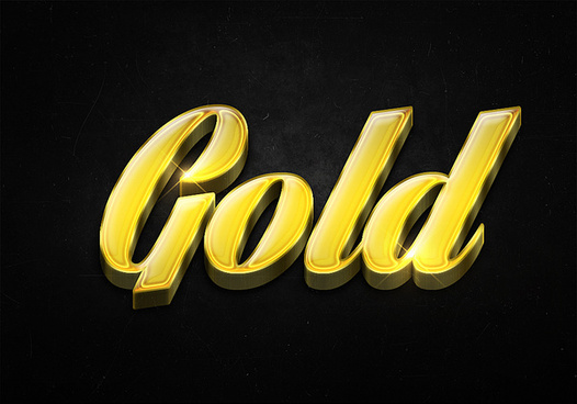 57 3d shiny gold text effects preview