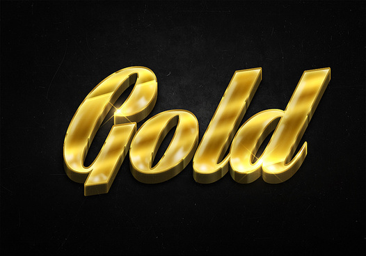 58 3d shiny gold text effects