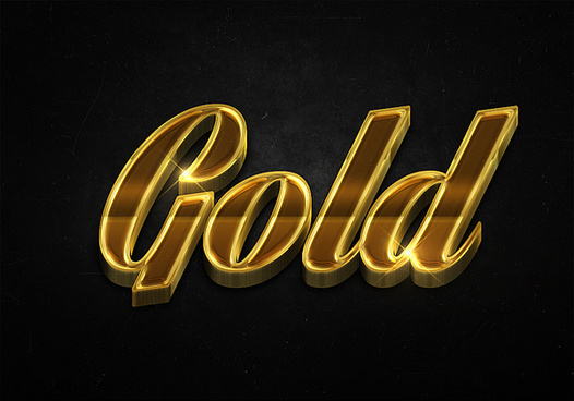59 3d shiny gold text effects