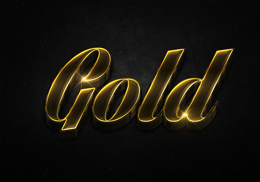 5 3d shiny gold text effects preview