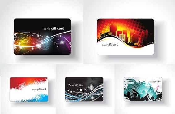 5 card background vector