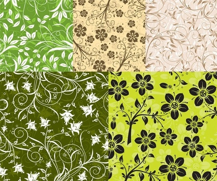 5 fashion pattern vector background