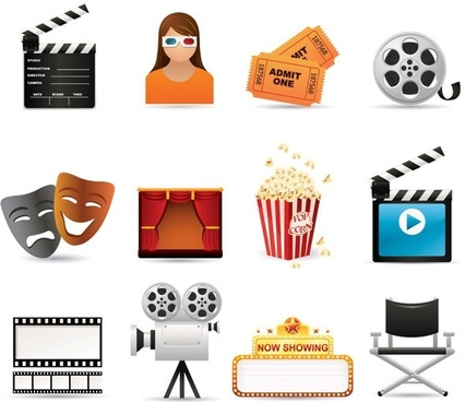 5 film icon vector