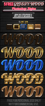 5 free glossy wood styles