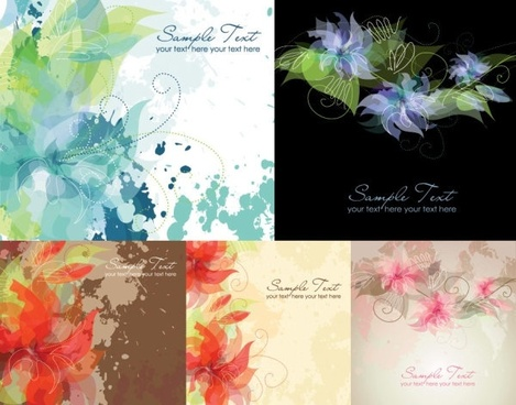 5 ink flowers vector dream
