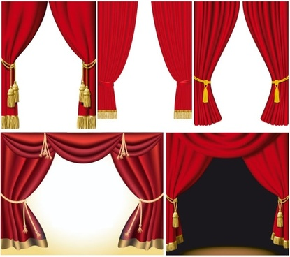 5 practical curtain vector