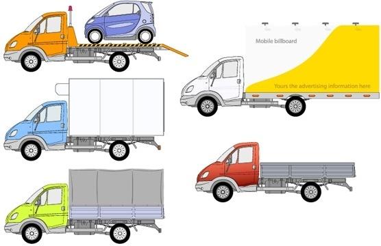 5 truck vector