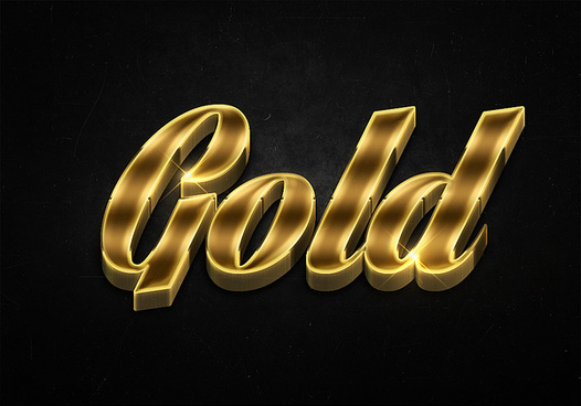 62 3d shiny gold text effects preview