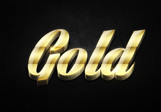 63 3d shiny gold text effects preview