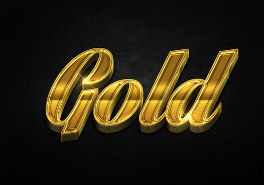 69 3d shiny gold text effects preview