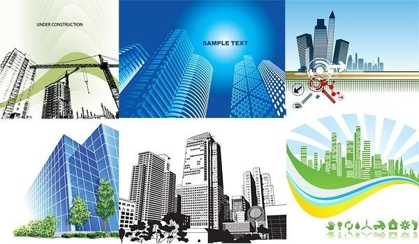 6 architectural theme vector