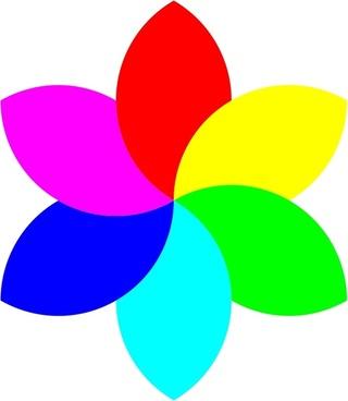 6 color football flower remix