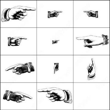 6 finger pointing brush
