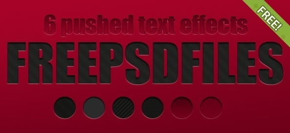 6 Free Pushed Text Effects