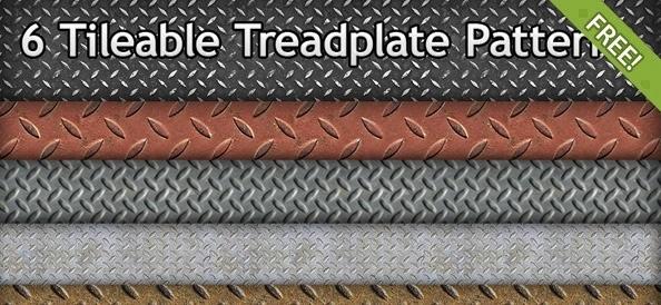 6 Free Tileable Treadplate Patterns