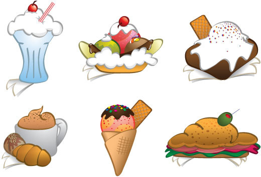 6 free vector dessert cliparts food graphics