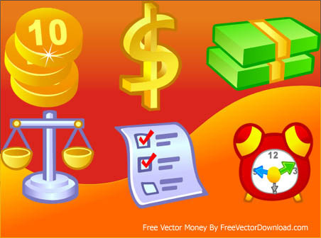 6 free vector money icons