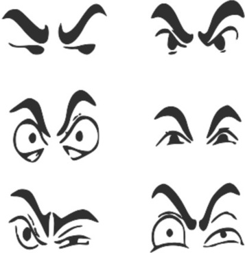 6 human eyes expressions