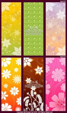 6 lovely shades of the background pattern vector