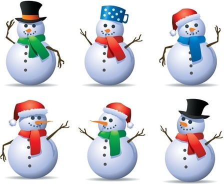6 vector snowman