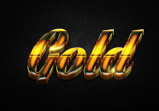 78 3d shiny gold text effects preview