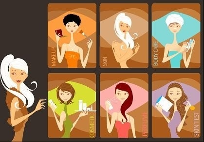 beauty care icons collection various colored design