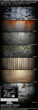 7 cool web page background psd layered