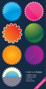 7 Web 2.0 badges